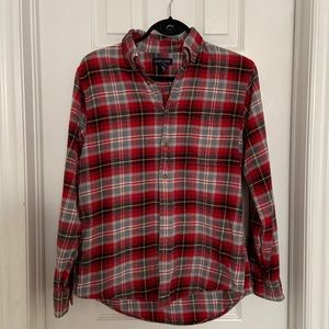 3/$20 Land's End Red Flannel Shirt